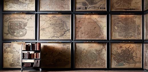 vintage map wall art ellie decor